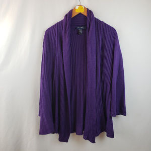 Denim & Co. Womens Open Front Cardigan Sweater